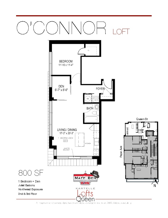 1003 Queen #301 Floor Plan