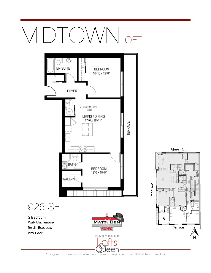 1003 Queen #203 Floor Plan