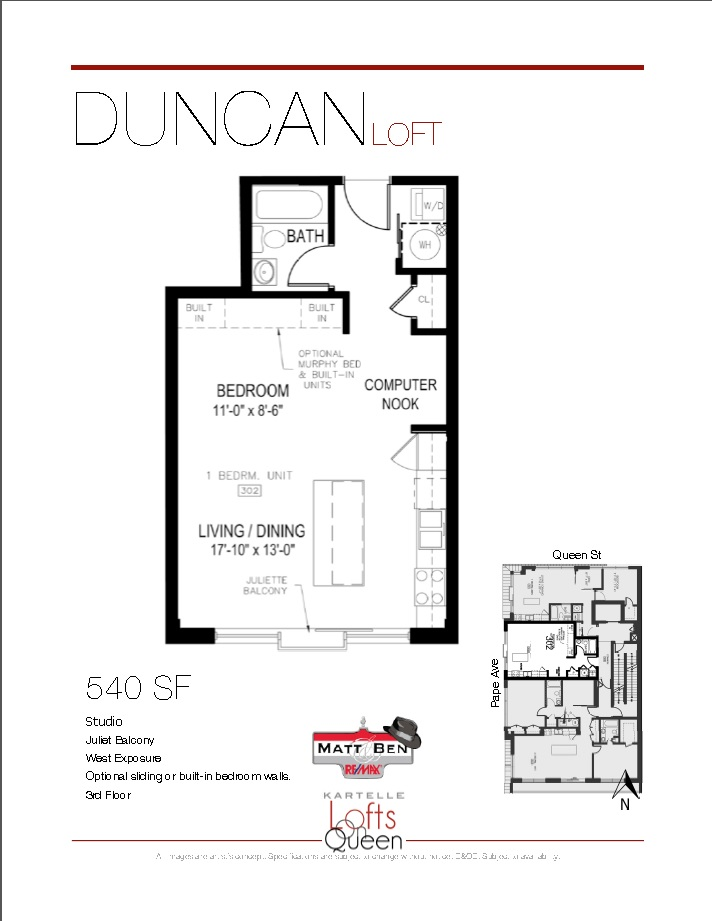 1003 Queen #302 Floor Plan